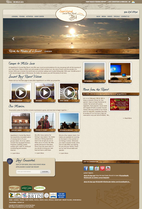 Sunset Bay Resort Responsive Refresh Intro Photo
